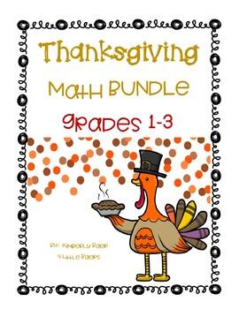 THANKSGIVING Math Bundle! - 2/3 Digit Addition/Subtraction, Money, Etc.