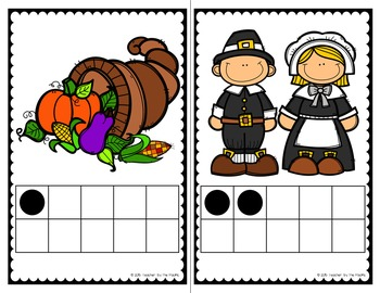 THANKSGIVING Math - Count the Room – Ten Frames and Numbers 1 - 10