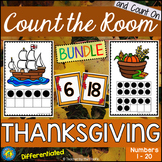 THANKSGIVING Math - Count the Room ? Ten Frames and Numbers 1 - 20 {BUNDLE}