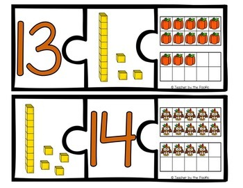 THANKSGIVING Math Number Puzzles 1 – 20