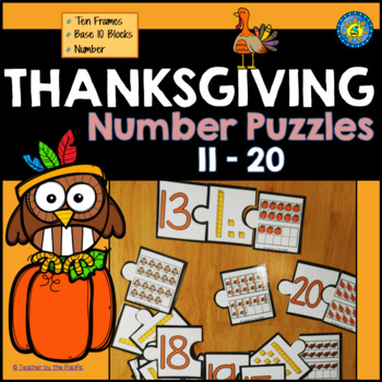 THANKSGIVING Math Number Puzzles 11 - 20