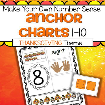 THANKSGIVING Numbers Make Your Own Anchor Charts
