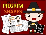Draw with Shapes - THANKSGIVING PILGRIM