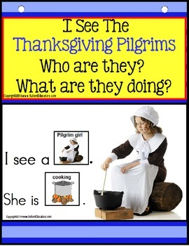THANKSGIVING PILGRIMS - Build a Sentence with Pictures Int