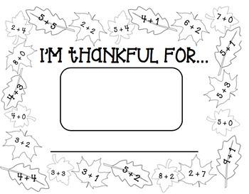 THANKSGIVING PLACEMAT {Printable!}