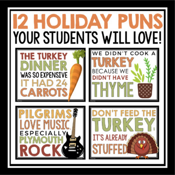 THANKSGIVING PUN POSTERS
