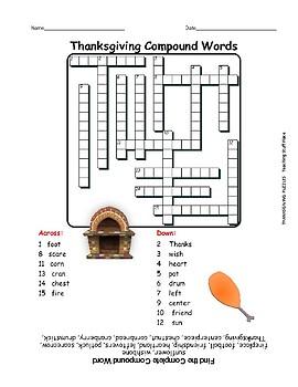 THANKSGIVING PUZZLES: SEARCH, WORD SCRAMBLE, CROSSWORD, Grades 3-5 Fun