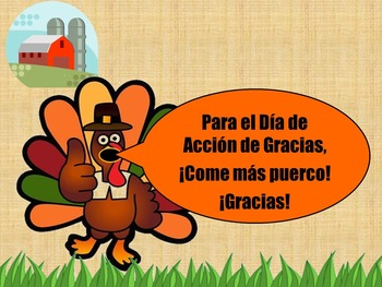 THANKSGIVING: Prepositions of Place Powerpoint