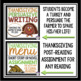 THANKSGIVING READING AND WRITING