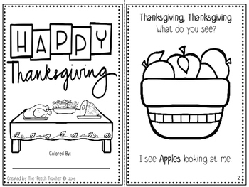 THANKSGIVING- Receptive, Expressive Language, and Articulation Packet (RELAP)