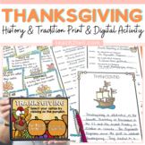 THANKSGIVING: SCAVENGER HUNT: HISTORY AND TRADITION
