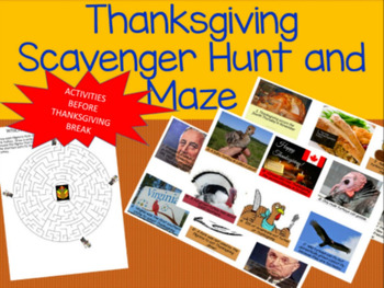 THANKSGIVING SCAVENGER HUNT AND MAZE