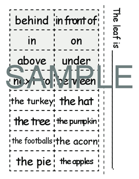 Thanksgiving Speech Therapy Variety Pack