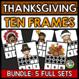 THANKSGIVING TEN FRAME ACTIVITIES (KINDERGARTEN AND PRESCHOOL MATH) NUMBERS 1-10