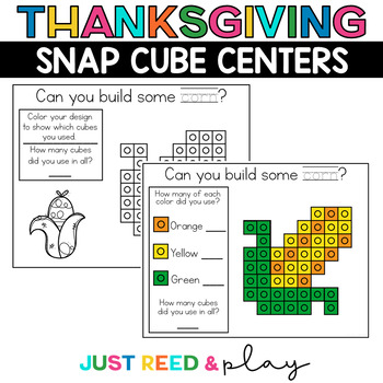 THANKSGIVING THEMED Snap Cube Math Centers