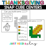 THANKSGIVING THEMED Snap Cube November Math Centers