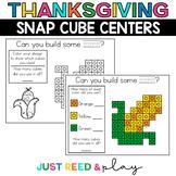 THANKSGIVING THEMED Snap Cube November Math Centers