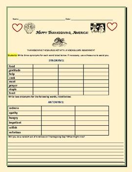 Thesaurus Activities & Worksheets   Teachers Pay Teachers