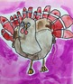 THANKSGIVING TURKEY ART (DRAWING + PAINTING + VIDEO LINK TOO)... GOBBLE GOBBLE!!