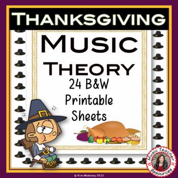 Thanksgiving Music: 24 Thanksgiving Music Activities: b/w version