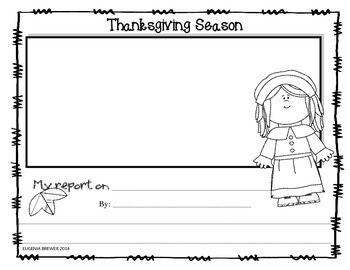 THANKSGIVING / WRITING ACTIVITIES / CUSTOMIZABLE REPORT