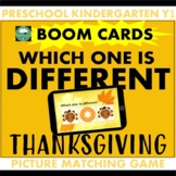THANKSGIVING Which one is Different? BOOM CARDS™ Distance