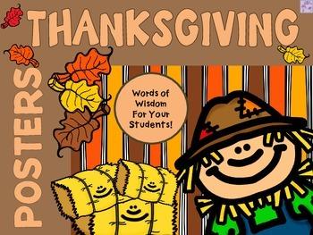 THANKSGIVING Words of Wisdom Posters { Fall }