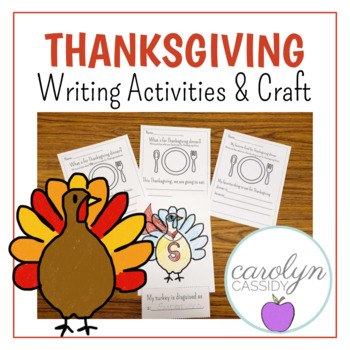THANKSGIVING Writing Activities and Craft