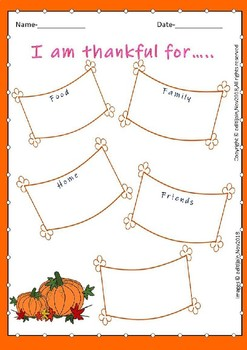 THANKSGIVING card coloring