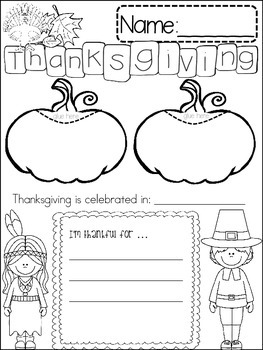 THANKSGIVING {{quick topics}} one interactive worksheet