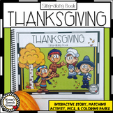 THANKSGIVING sing-along book with Multiple Activities pre-k  AAC autism