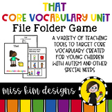 THAT Core Vocabulary Bundle for Special Education Teachers