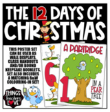 The 12 Days of Christmas - 28 page Poster Set & Colouring Sheets, Australia size