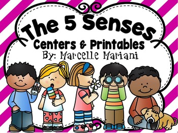 THE FIVE SENSES- CENTER ACTIVITIES AND WORKSHEETS