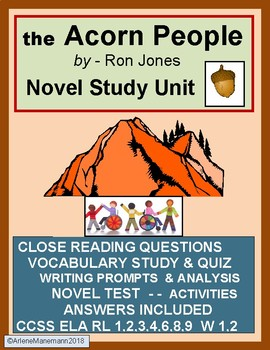 THE ACORN PEOPLE Novel Unit - Close Reading, Test, Activities