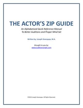 THE ACTOR'S ZIP GUIDE