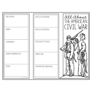 THE AMERICAN CIVIL WAR Research Brochure Template, American History Project