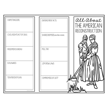 THE AMERICAN RECONSTRUCTION Research Brochure Template, American History Project