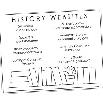 THE AMERICAN REVOLUTION Research Brochure Template, World History Project