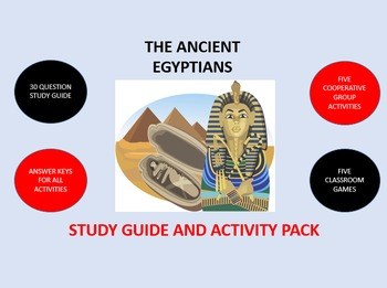 The Ancient Egyptians: Study Guide and Activity Pack