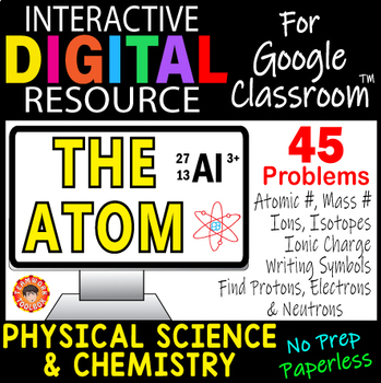 THE ATOM Digital Resource for Google Classroom ~Chemistry & Physical Science