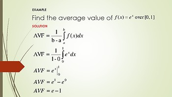 DERIVING THE AVERAGE VALUE OF A FUNCTION FORMULA