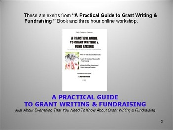 THE BABY BOOMERS GUIDE to WRITING A GRANT # 1