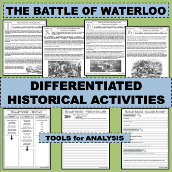 THE BATTLE OF WATERLOO Eyewitness Accounts Reading Comprehension