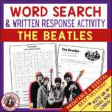 THE BEATLES Word Search and Research Activity for Middle S