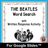 THE BEATLES Word Search and Research Activity for Use with