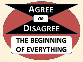 THE BEGINNING OF EVERYTHING - Agree or Disagree Pre-reading Activity