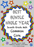 THE BEST BUNDLE Seventh Grade Common Core Math Stations COMPLETE YEAR