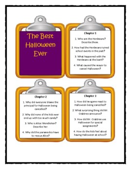 THE BEST HALLOWEEN EVER by Barbara Robinson * Discussion Cards