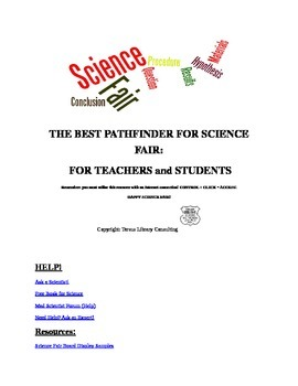 THE BEST PATHFINDER FOR SCIENCE FAIR:  FOR TEACHERS and STUDENTS